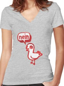 nein Women's Fitted V-Neck T-Shirt