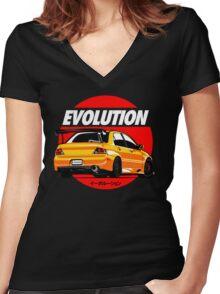 LANCER EVOLUTION VIII Women's Fitted V-Neck T-Shirt