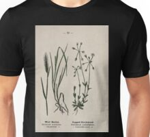 Wayside and woodland blossoms a pocket guide to British wild flowers for the country rambler  by Edward Step 1895 019 Wall Barley Jagged Chickweed Unisex T-Shirt