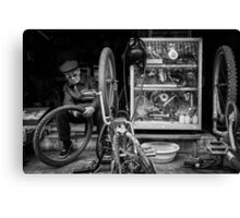 The Bicycle Man #0102 Canvas Print
