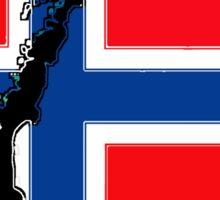 Norway Flag with Norwegian Map Sticker