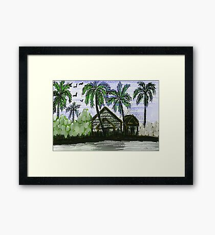 The Village View Framed Print