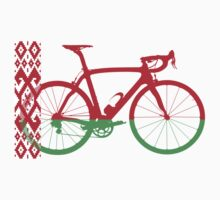 Bike Flag Belarus (Big) (T-Shirt) Kids Tee
