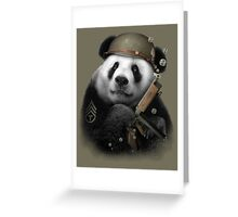PANDA SOLDIER Greeting Card