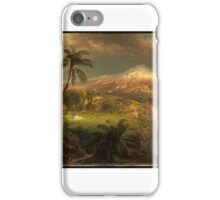 Church, Frederic_Edwin, Passing Shower in the Tropics,  iPhone Case/Skin