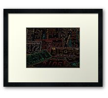 Glowing License Plates Framed Print