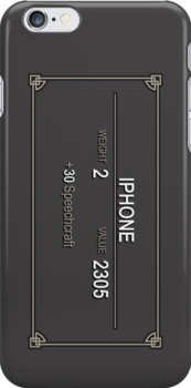 Elder Scrolls Iphone Case by swanvalkyrie