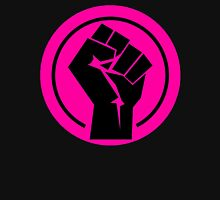 Hot Pink Fist Womens Fitted T-Shirt