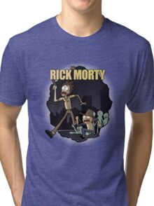 Rick and Morty/ The Walking Dead crossover Tri-blend T-Shirt