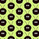 Green Cute Dazzled Bugs Pattern by Boriana Giormova