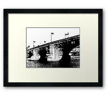 London Bridge Stamp Framed Print
