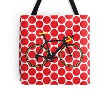Bike Red Polka Dot (Big - Highlight) Tote Bag