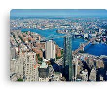 high above Manhattan Canvas Print