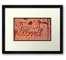 Ford Country Framed Print
