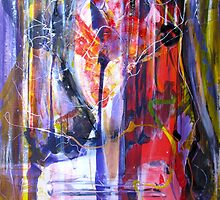 The Unexpected path inside myself, Original mixed media Abstract painting by Dmitri Matkovsky