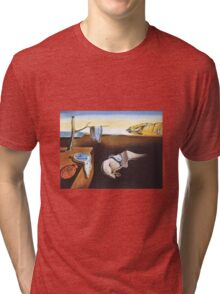 The Persistence of Memory by  Salvador Dali  Tri-blend T-Shirt