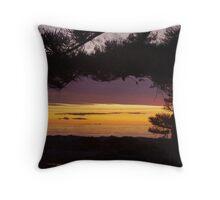 Mauve Sunset at Semaphore Throw Pillow