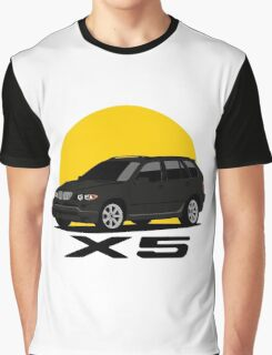 BMW X5 4.8is (E53) (black) Graphic T-Shirt