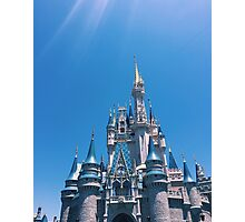Blue Skies and Castle Views Photographic Print