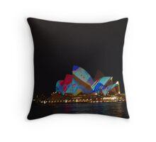 Sydney opera house alight Throw Pillow