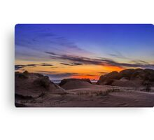Sand Dunes Sunset Canvas Print