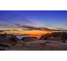 Sand Dunes Sunset Photographic Print