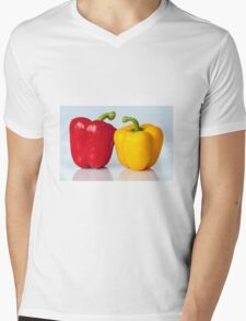 Red and yellow peppers Mens V-Neck T-Shirt
