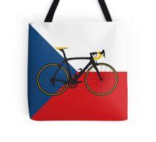 Bike Flag Czech Republic (Big - Highlight) Tote Bag