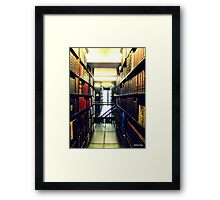 glass floored Library Liverpool Athenaeum Framed Print