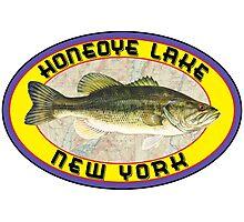 HONEOYE LAKE FINGER LAKES NEW YORK BASS FISHING FISH LARGEMOUTH SMALLMOUTH SENECA CAYUGA KEUKA CANANDAIGUA OWASCO  Photographic Print
