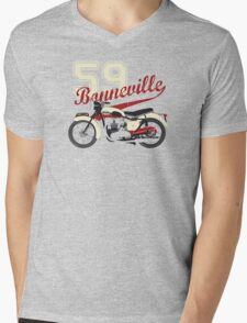 59 TRIUMPH BONNEVILLE Mens V-Neck T-Shirt