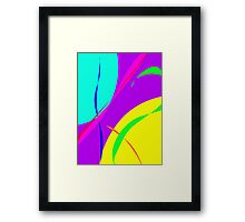 Bright Colors Abstract Design Framed Print