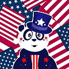 Patriotic Panda - Flags by Adamzworld