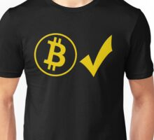 Bitcoins accepted Unisex T-Shirt