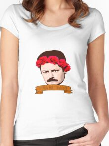 """Ron Swanson - """"I Know More Than You"""" Women's Fitted Scoop T-Shirt"""
