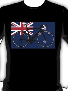 Bike Flag New Zealand (Big - Highlight) T-Shirt