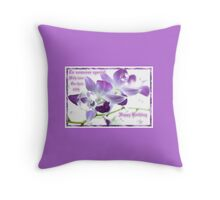 60th Birthday .Mauve Orchid Throw Pillow
