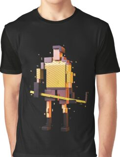 The Pixelized Hockey Player Graphic T-Shirt