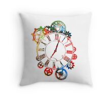 Clockworks in Color Throw Pillow