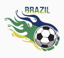 Brazil Brasil Soccer Ball Kids Clothes