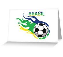 Brasil Futebol - Brazil Soccer Ball Greeting Card
