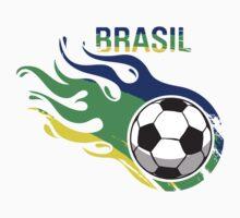 Brasil Futebol - Brazil Soccer Ball Baby Tee