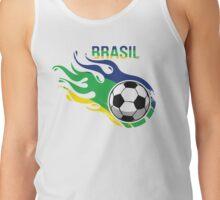 Brasil Futebol - Brazil Soccer Ball Tank Top