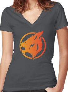 Xbox Beastfire Women's Fitted V-Neck T-Shirt