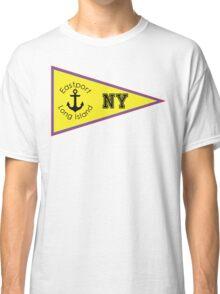 EASTPORT LONG ISLAND NEW YORK ANCHOR NAUTICAL FLAG PENNANT OCEAN BEACH SURFING SURF YACHT YACHTING BOAT Classic T-Shirt
