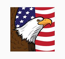 Bald Eagle on American flag background Unisex T-Shirt