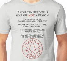 If you can read this you are NOT a demon Unisex T-Shirt