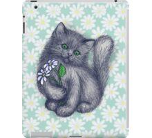 Cute Kitten with Daisies iPad Case/Skin