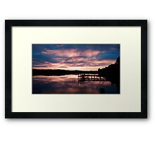 Sky turns the morning blue Framed Print