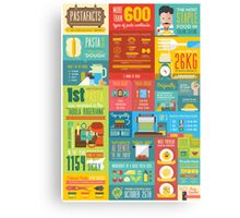 Pastafacts Infographics Poster Canvas Print